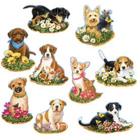 Precious Puppies Mini 300 Large Piece Shaped Puzzle Set