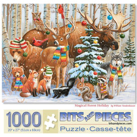 Magical Forest Holiday 1000 Piece Jigsaw Puzzle