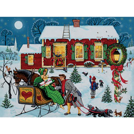 Christmas Gathering 500 Piece Jigsaw Puzzle