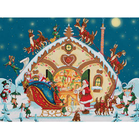 Loading The Sleigh 1000 Piece Jigsaw Puzzle