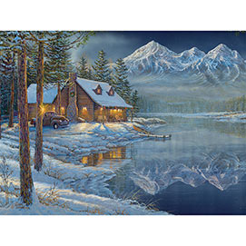 Shoreline Mountain 300 Large Piece Jigsaw Puzzle