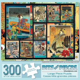 Japanese Kimonos Quilt 300 Large Piece Jigsaw Puzzle