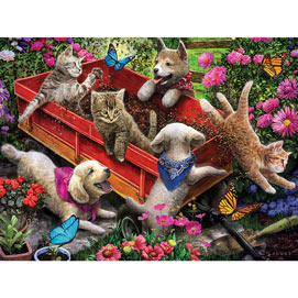 Wagon Fun 500 Piece Jigsaw Puzzle