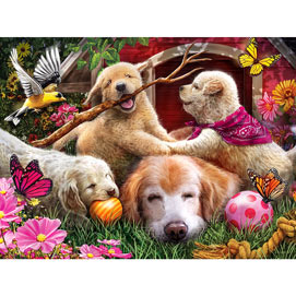 Doghouse Fun 500 Piece Jigsaw Puzzle