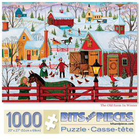The Old Farm In Winter 1000 Piece Jigsaw Puzzle