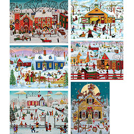 Set of 6: Joseph Holodook 300 Large Piece Puzzles