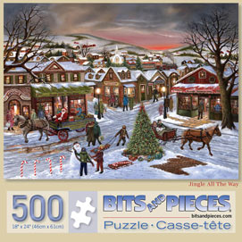 Jingle All the Way 500 Piece Jigsaw Puzzle