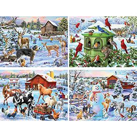 Set of 4: Mary Thompson 1000 Piece Puzzles