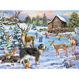 Snow Day, Let's Play! 1000 Piece Jigsaw Puzzle