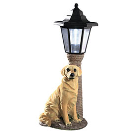 Solar Golden Retriever Lantern