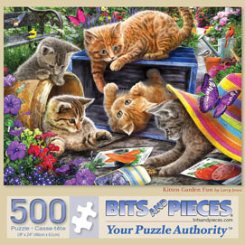 Kitten Garden Fun 500 Piece Jigsaw Puzzle