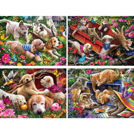 Set of 4: Larry Jones 500 Piece Jigsaw Puzzles