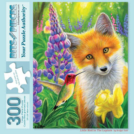 Little Bird In The Lupines 300 Large Piece Jigsaw Puzzle