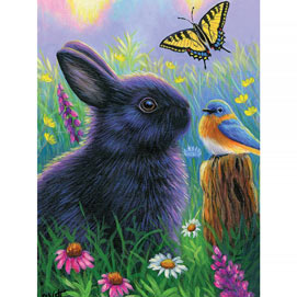 Morning In Bunny's Garden 500 Piece Jigsaw Puzzle