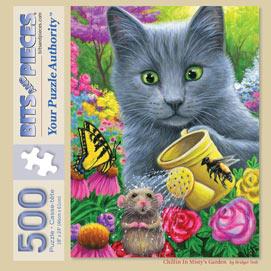 Chillin In Misty's Garden 500 Piece Jigsaw Puzzle