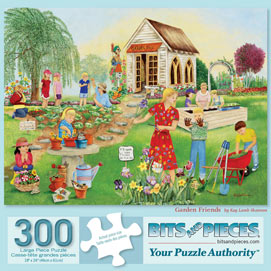 Garden Friends 300 Large Piece Jigsaw Puzzle