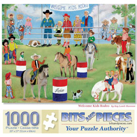 Welcome Kids Rodeo 1000 Piece Jigsaw Puzzle