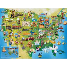 U.S. History Map 300 Large Piece Jigsaw Puzzle