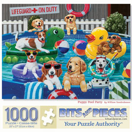 Puppy Pool Party 1000 Piece Jigsaw Puzzle