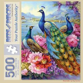Peacocks 500 Piece Jigsaw Puzzle