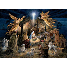 In The Manger 1000 Piece Jigsaw Puzzle