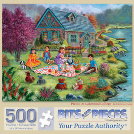 Picnic At Lakewood College 500 Piece Jigsaw Puzzle