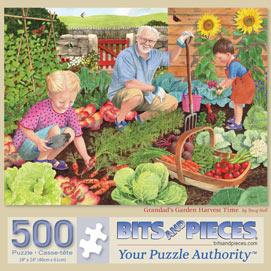 Grandad's Garden Harvest Time 500 Piece Jigsaw Puzzle
