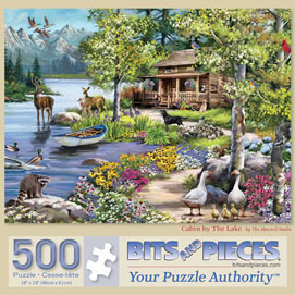 Cabin By The Lake 500 Piece Jigsaw Puzzle