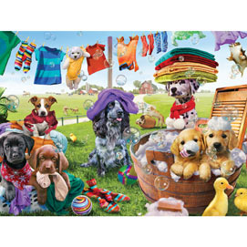 Puppies Playing 1000 Piece Jigsaw Puzzle