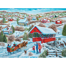 Sleigh Ride Home 300 Large Piece Jigsaw Puzzle