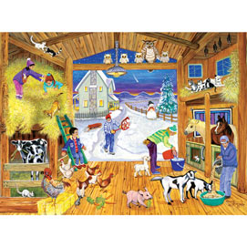 Winter Feeding 300 Large Piece Jigsaw Puzzle
