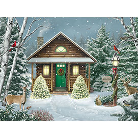 Christmas Cabin 1000 Piecee Jigsaw Puzzle