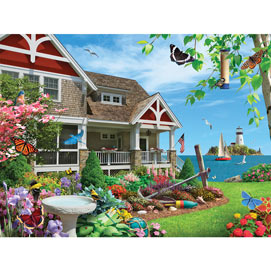 Blooming Beach House 300 Large Piece Jigsaw Puzzle