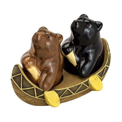 Paddling Bears Salt And Pepper Shakers