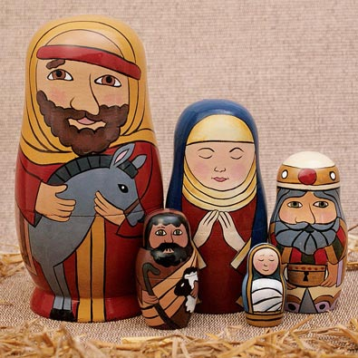 Holy Family Nesting Doll Set