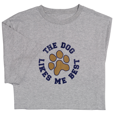 The Dog Likes Me Best-Tee