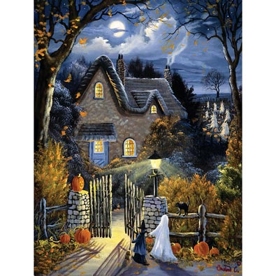 Tess's Halloween 300 Large Piece Glow-In-The-Dark Jigsaw Puzzle