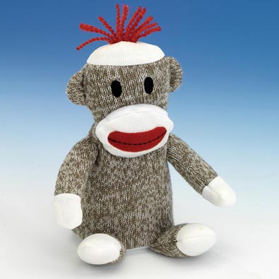 Pip Squeeks Sock Monkey