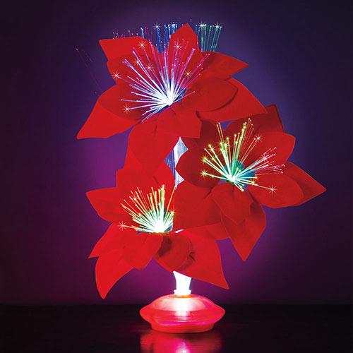 Fibre Optic Poinsettia Light