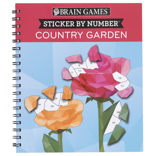 Country Garden Sticker by Number Books