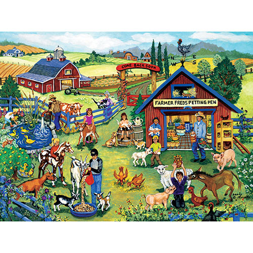 Farmer Fred's Petting Pen 300 Large Piece Jigsaw Puzzle