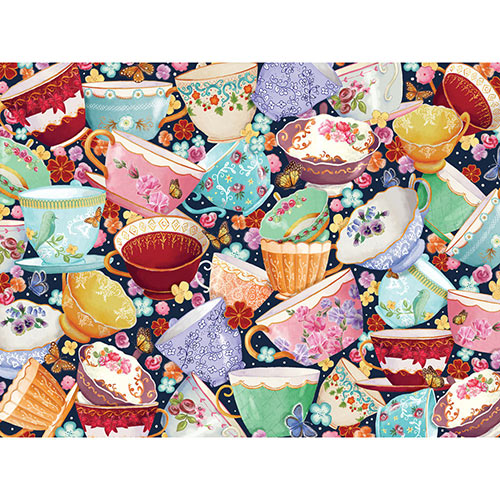 Teacups Collage 300 Large Piece Jigsaw Puzzle