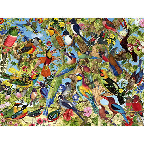 Fantastic Birds 500 Piece Jigsaw Puzzle