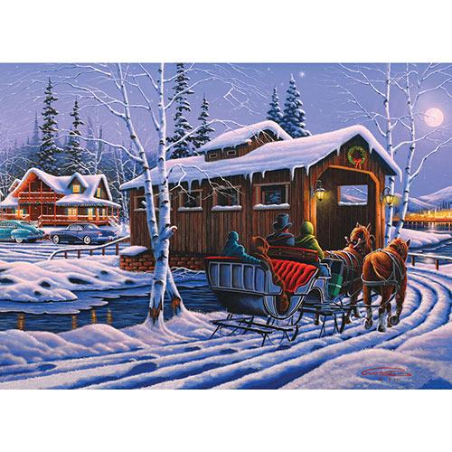 Romantic Christmas 300 Large Piece Jigsaw Puzzle