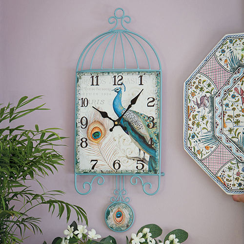 Peacock Pendulum Clock