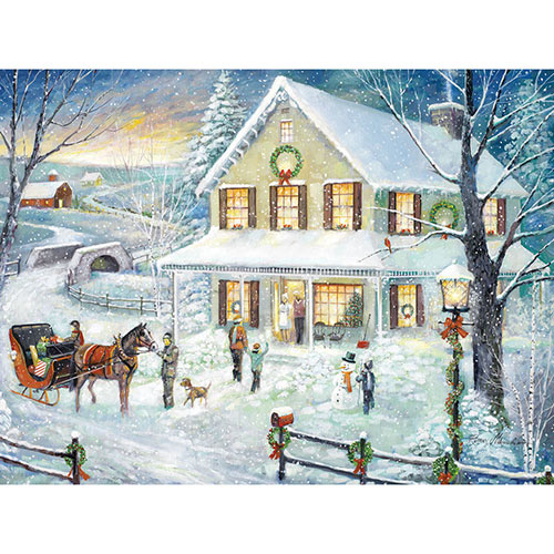 Christmas Visit 1000 Piece Jigsaw Puzzle