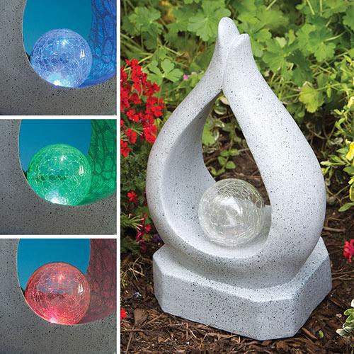 Solar Teardrop Garden Art