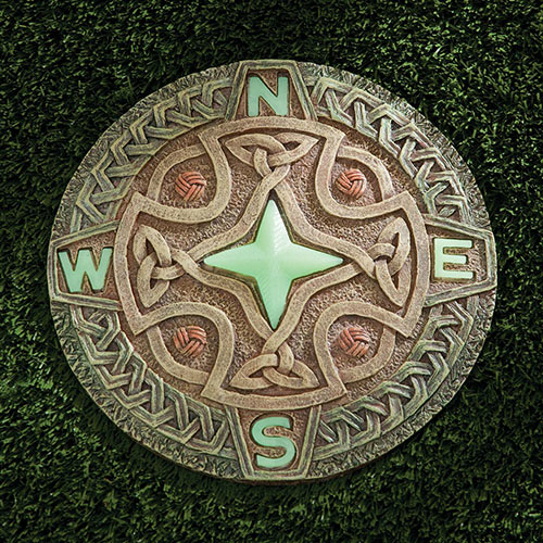 Compass Glow-in-the-Dark Stepping Stone