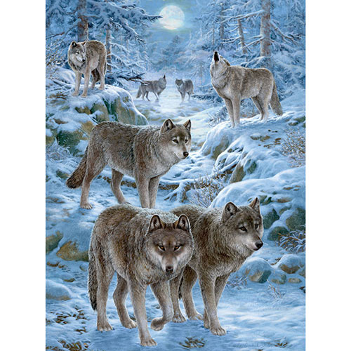 Winter Wolf Pack 1000 Piece Jigsaw Puzzle