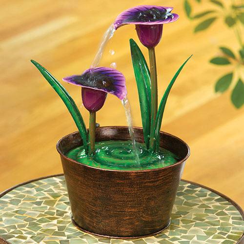 Purple Calla Lily Fountain